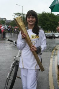 olympic torch for laura