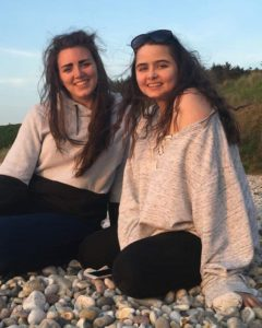 Sisters by the beach